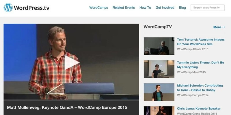 WordPress TV WordPress Videos