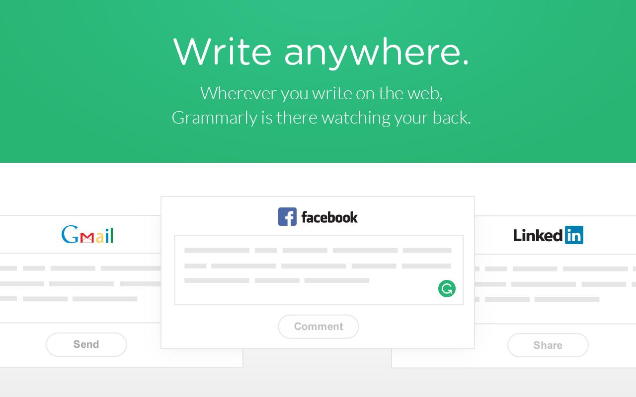 Write anywhere Grammarly Grammer Online