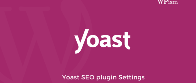 Yoast Plugin Settings SEO