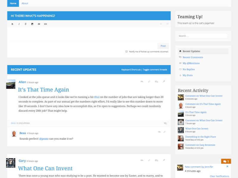 o2 Plugin WordPress Theme