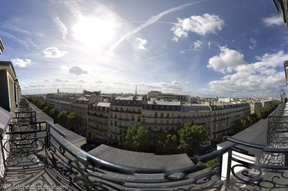 Paris Panorama View from Presidential Suite @ Hyatt Regency Madeleine