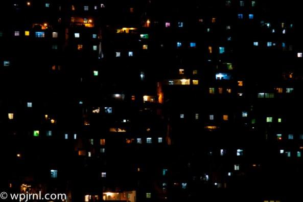 Favela Lights Rio de Janeiro Favela at Night