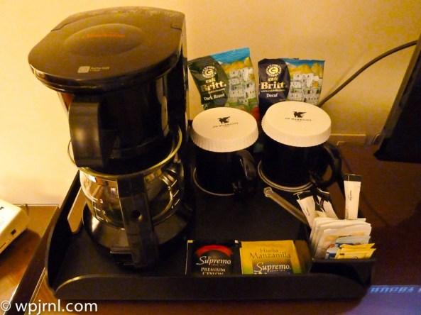 JW Marriott Lima Standard Room - coffee