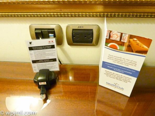 JW Marriott Lima Standard Room - plugs