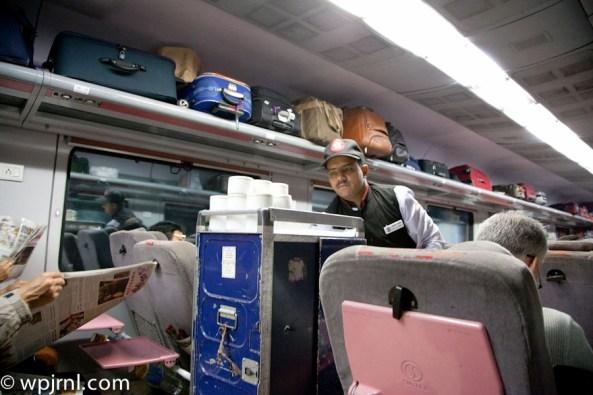 Bhopal Shatabdi Express/12002 First Class AC - Breakfast Service