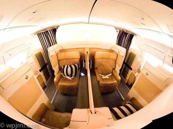 Etihad Airways New York to Abu Dhabi First Class - Panorama