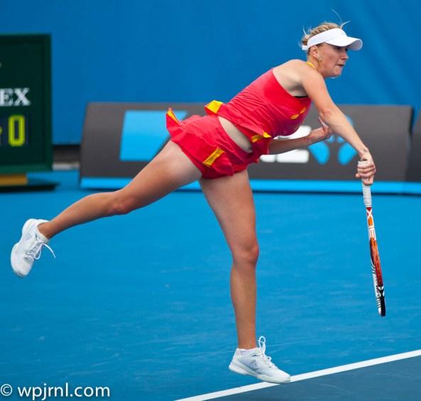 Olga Govortsova Serving - Australian Open 2012