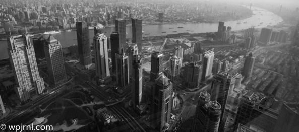 The Bund Aerial View - Park Hyatt Shanghai