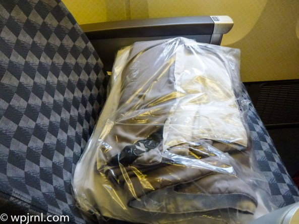 New Service New York Sao Paulo Business Class - Blanket and Pillow