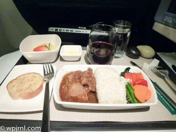 CX710 CMB-SIN Business Class - Beef Meal