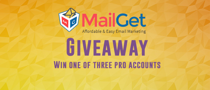 MailGet Giveaway: Win 3 PRO Email Marketing Accounts