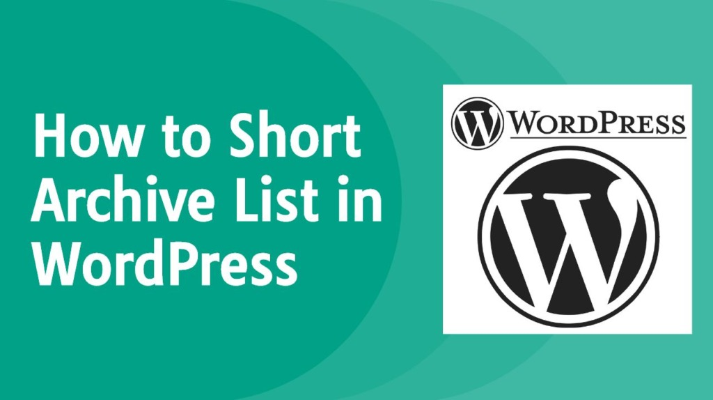 How to Short Archive List in WordPress