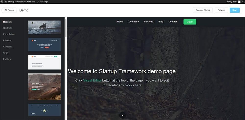 startup-framework-wordpress-theme