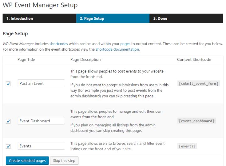 WP Event Manager Setup