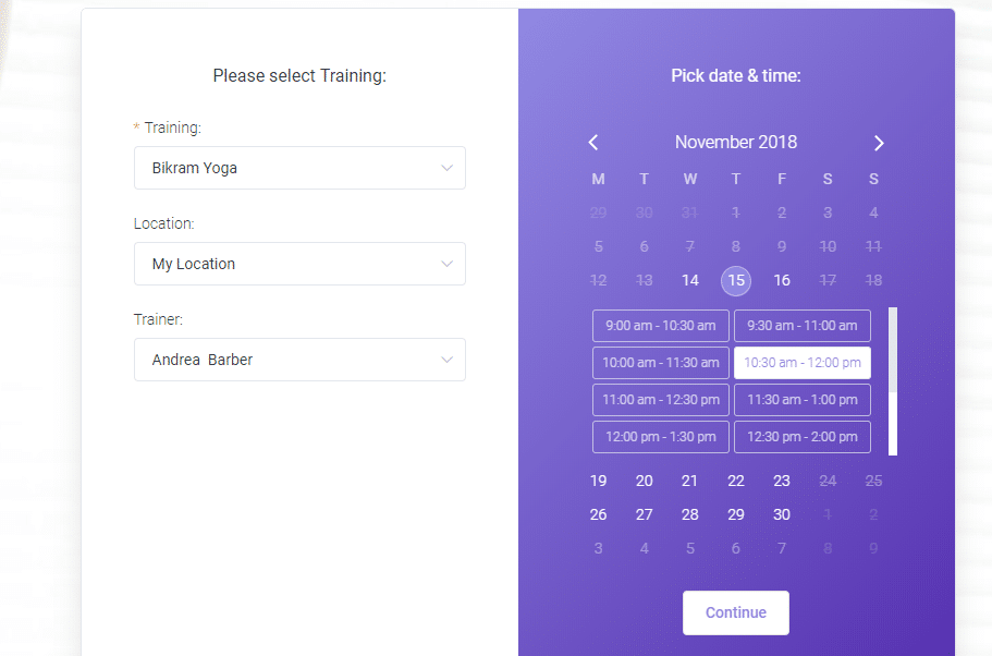 choose dates