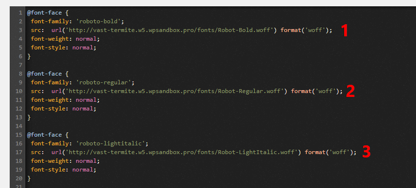 add font-face CSS