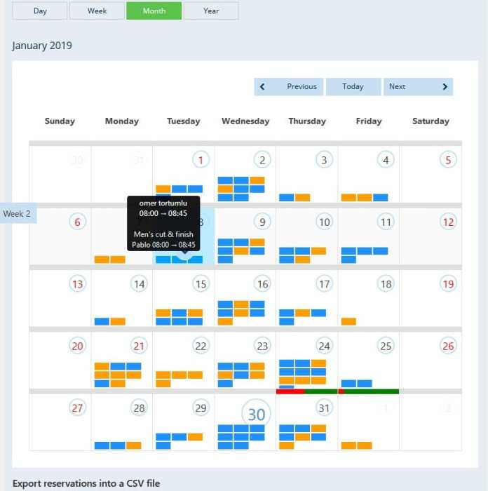 bookings calendar wordpress