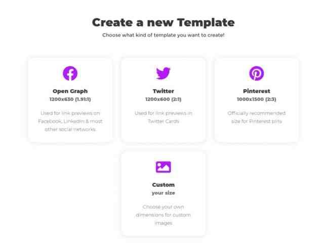Choose template