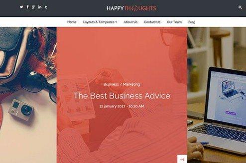CyberChimps Happy Thoughts WordPress Theme