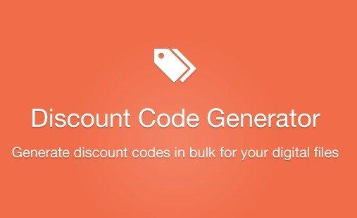 Easy Digital Downloads Discount Code Generator Addon