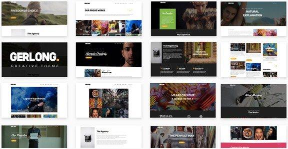 Gerlong - Responsive One Page & Multi Page Portfolio Theme