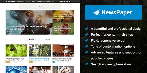 WPLocker-MyThemeShop NewsPaper WordPress Theme