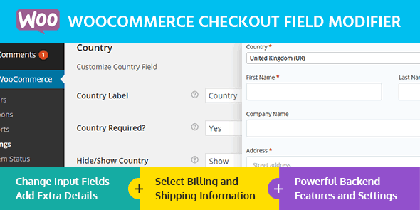 WPLocker-MyThemeShop WooCommerce Checkout Field Modifier