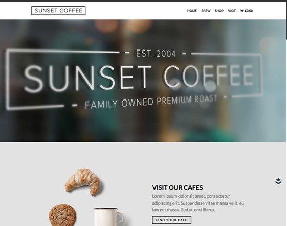 OboxThemes Sunset Coffee WooCommerce Themes
