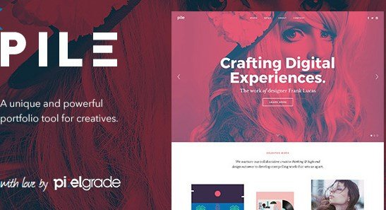 PILE - An Uncoventional WordPress Portfolio Theme
