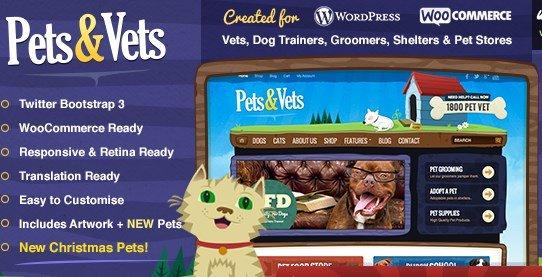 Pets & Vets - WordPress & WooCommerce