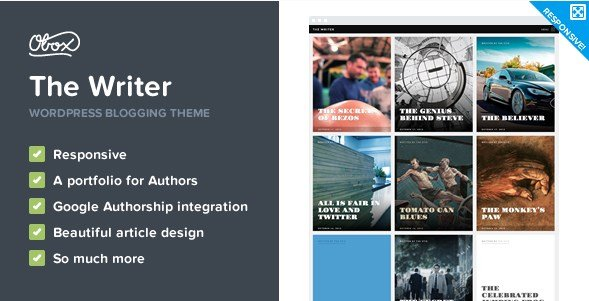 The Writer - Premium WordPress Blogging Theme