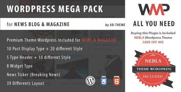 WP Mega Pack for News