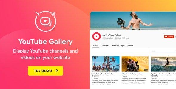 YouTube Plugin - WordPress Gallery for YouTube