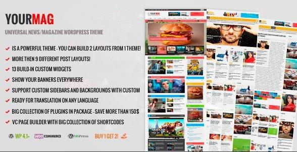 YourMag - Universal WordPress News Magazine Theme