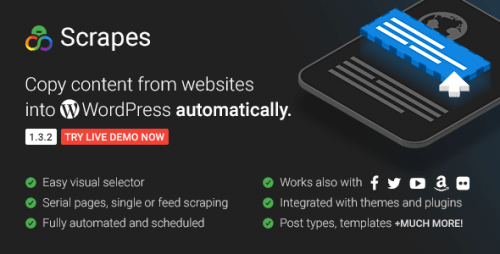 Scrapes - Automatic Web Content Crawler And Auto Post Plugin