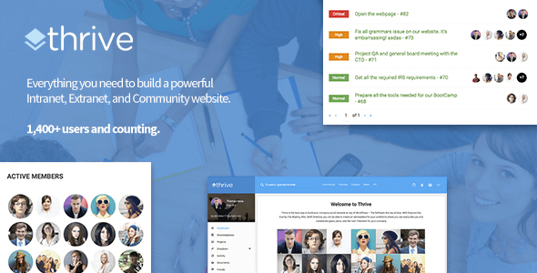 Thrive – Intranet & Community WordPress Theme