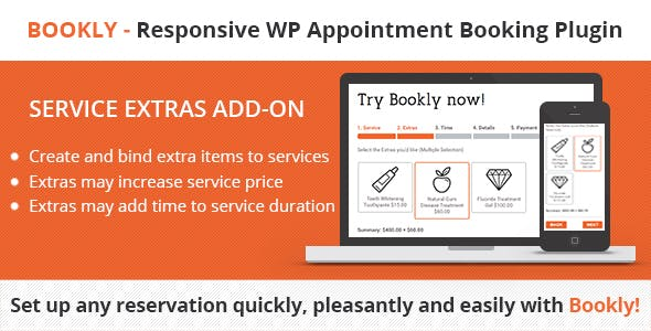 Bookly - Service Extras (Add-on)