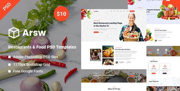 PSD Templates: Arsw – Eating places & Meals