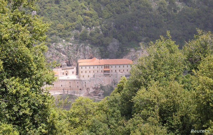 FILE - The Monastery of Saint Anthony of Qozhaya is nestled in the heart of the Qadisha valley, in Zgharta district, Lebanon, April 26, 2007.
