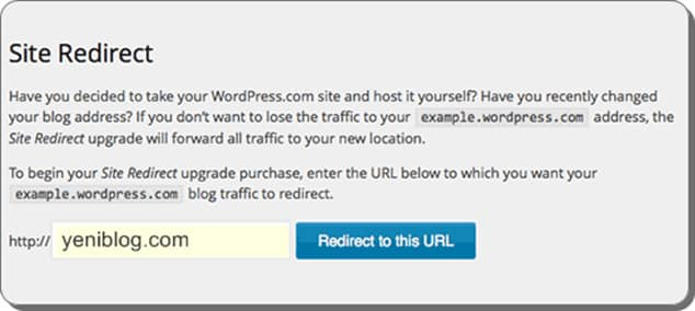 Wordpress.com 301 yönlendirme - wp.com'dan wp.org'a transfer