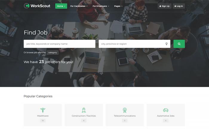 WorkScout - Job Board WordPress Theme