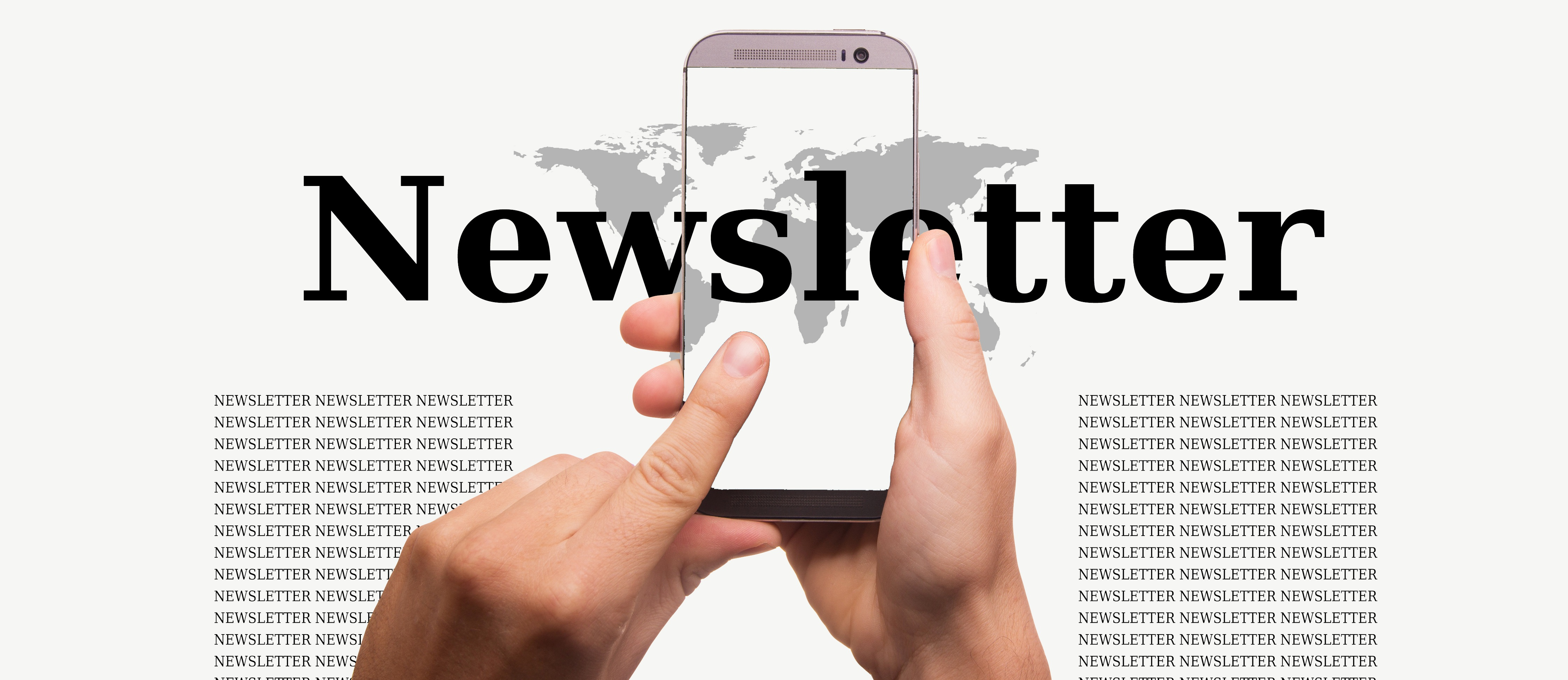 newsletter and smartphone image