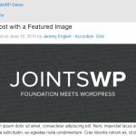 JointsWP Blog Post