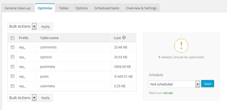 Advanced Database Cleaner Optimization