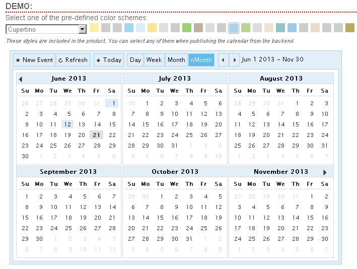 Calendar Event Multi View