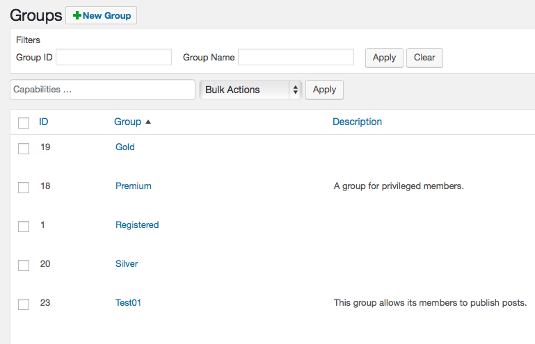 Groups New Group