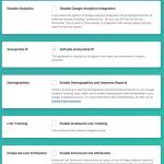 Google Analytics Germanized Tracking Settings