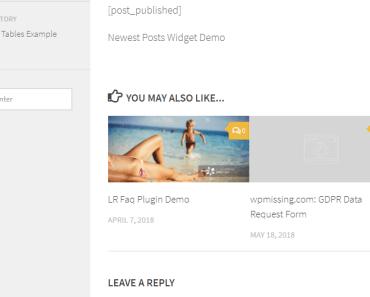 Selected Posts in Widget List-min