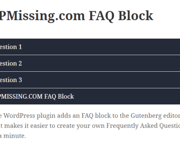 FAQ Accordion Plugin For Gutenberg - FAQ Block-min