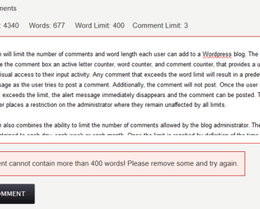 Limit The Number Of Comments And Words In Wordpress-min